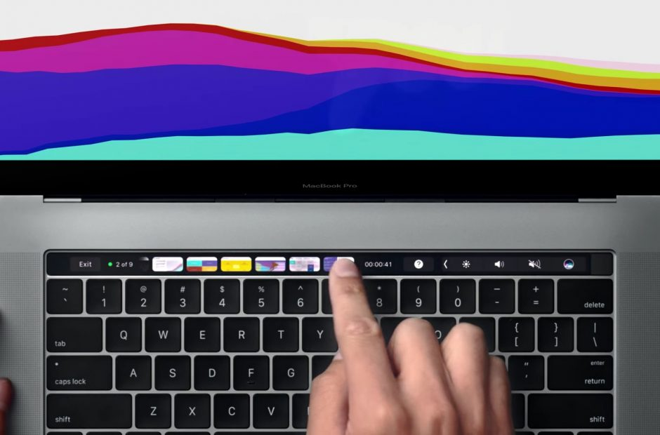 A perfect use of the Touch Bar: a Spotify/iTunes remote