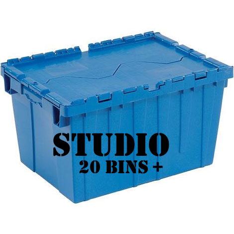 Plastic boxes for studio apartment