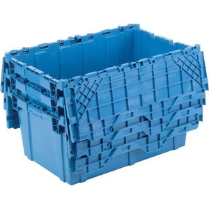 3 Blue Moving Bins Stacked