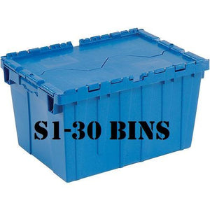 Studio S1 - 1 Bedroom - 30 Bins + Dolly + Kitchen Plate Caddy +10 Days + Delivery and Pick-up - bins4moves