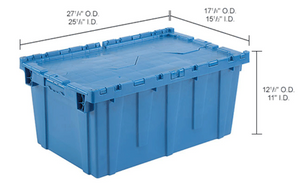 Size of plastic moving box for rent