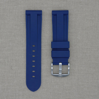 24mm Navy Blue Rubber Strap