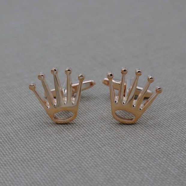 Rose Gold Crown Cufflinks