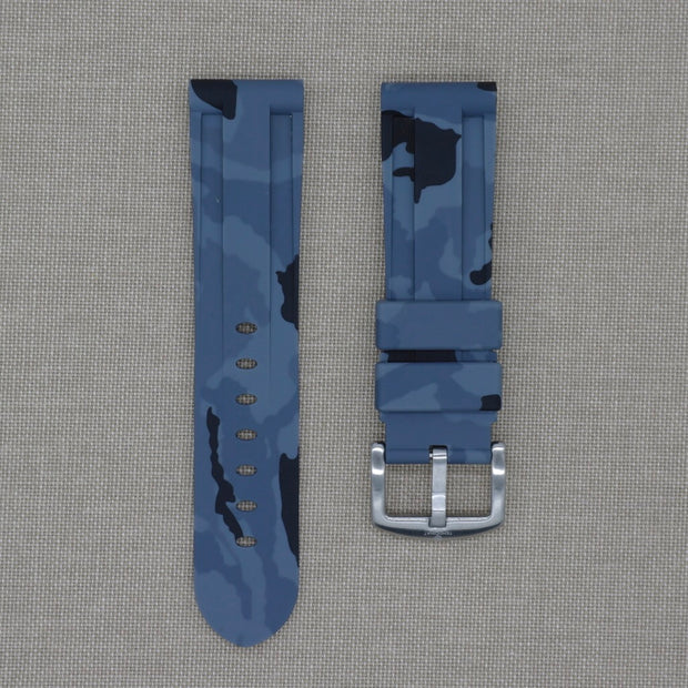 24mm Grey Camo Rubber Strap