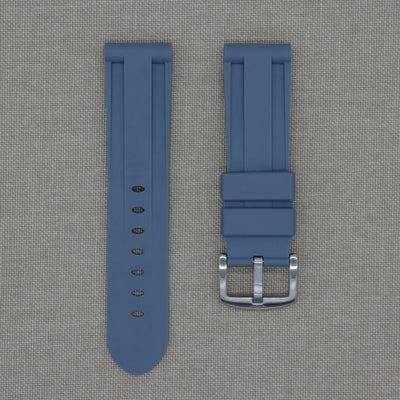 24mm Grey Rubber Strap