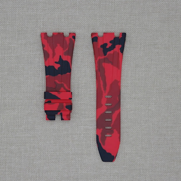 Red Camo 42mm AP Rubber Strap
