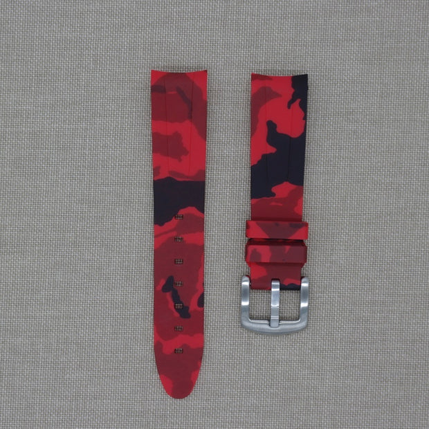 Red Camo Rubber Strap