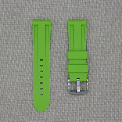 24mm Lime Rubber Strap