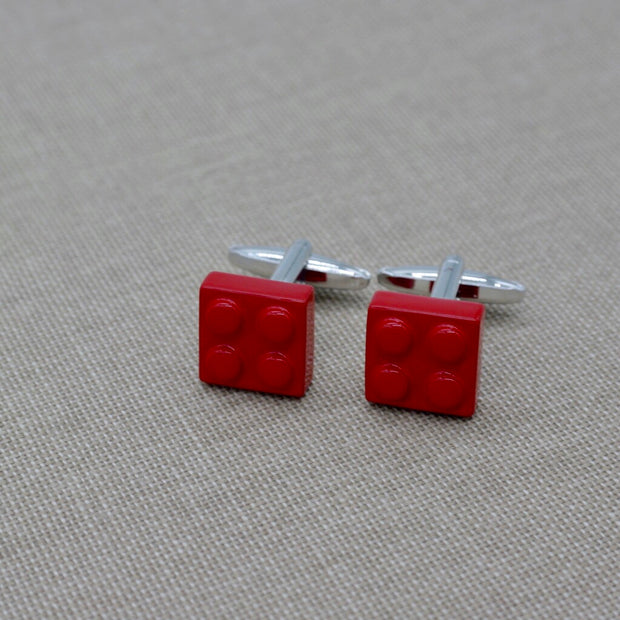 Red Lego Cufflinks