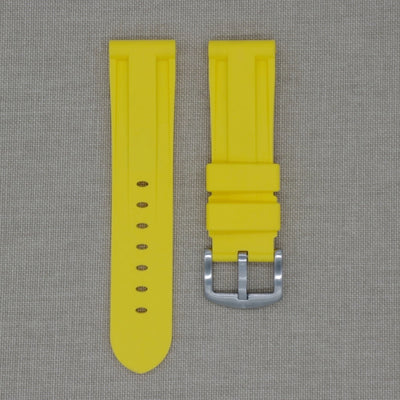 22mm Yellow Rubber Strap