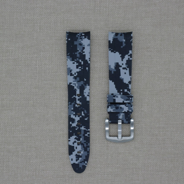 20mm Curved Ended Digi Camo Rubber Strap