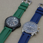 22mm Blue Rubber Strap