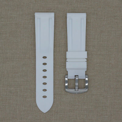 22mm White Rubber Strap