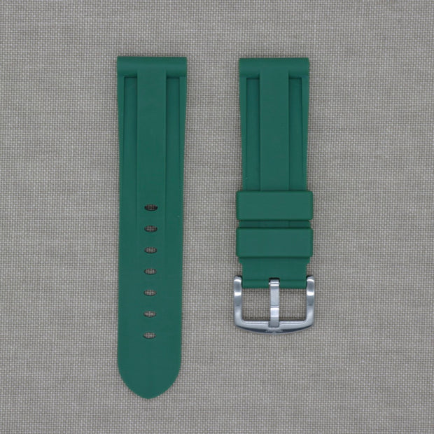 22mm Green Olive Rubber Strap