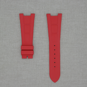 FKM Vulcanized Red Rubber Strap for Patek Nautilus