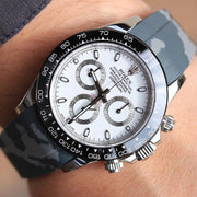 Grey Camo Rubber Strap