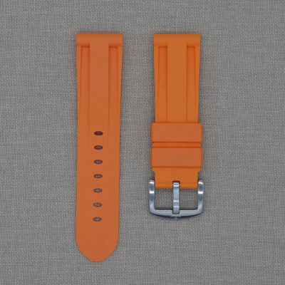 24mm Orange Rubber Strap