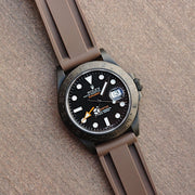 22mm Brown Rubber Strap