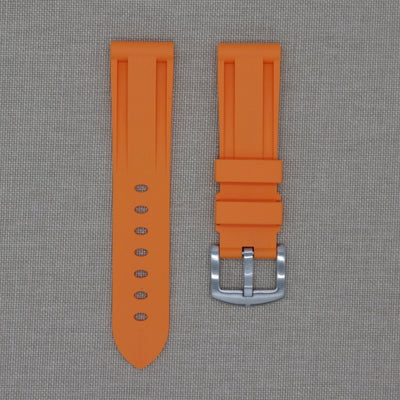 22mm Orange Rubber Strap