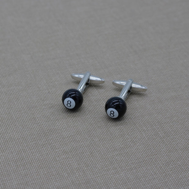 Black Billiard Cufflinks
