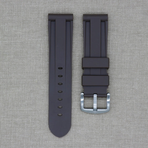 24mm Brown Rubber Strap