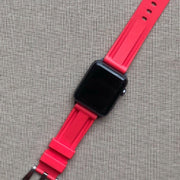 Red Rubber Strap -iwatch-