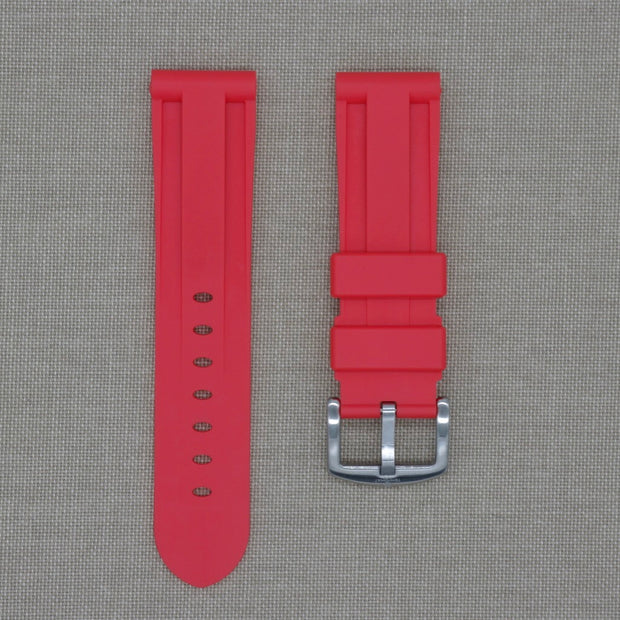 Red 24mm Rubber Strap