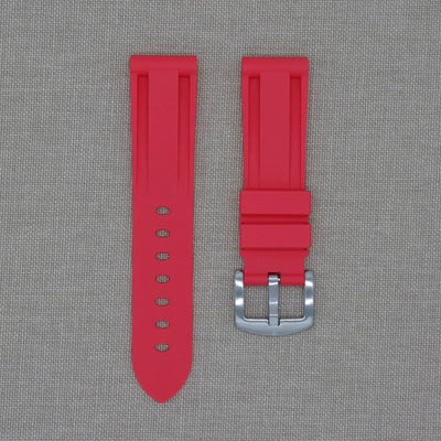 22mm Red Rubber Strap