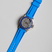 22mm Blue Marbella Rubber Strap