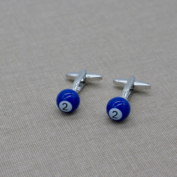 Blue Billiard Cufflinks
