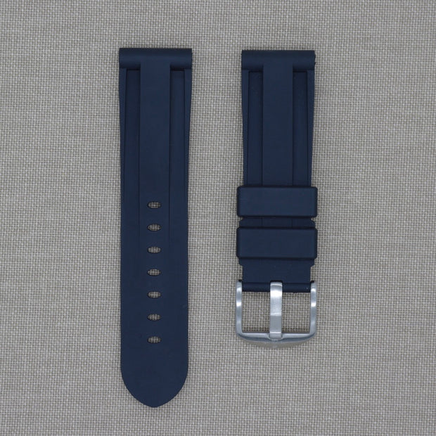 22mm Black Rubber Strap