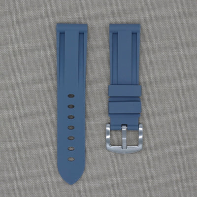 22mm Grey Rubber Strap