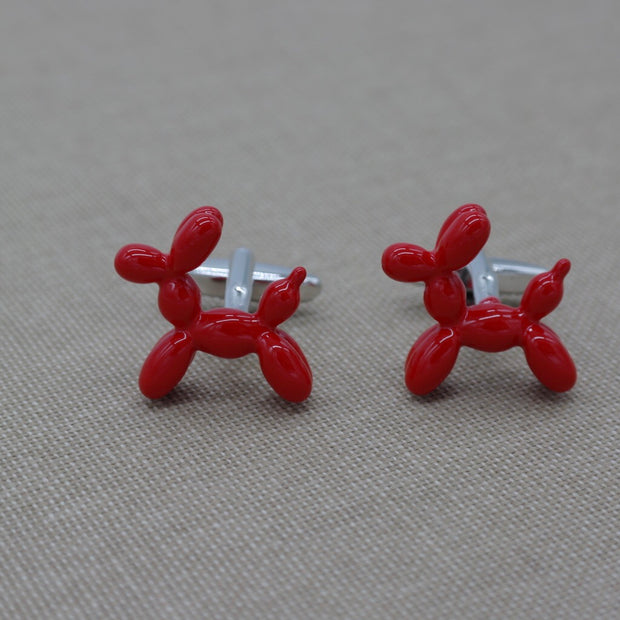 Red Balloon dog Cufflinks