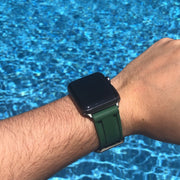 Olive Green Rubber Strap -iwatch-
