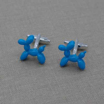 Light Blue Balloon dog Cufflinks