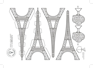 Maqueta Torre Eiffel París - descargable - Triphood