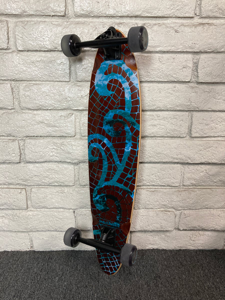 "SAN CLEMENTE | Mosaic Sea 34"" Pintail Longboard Complete"