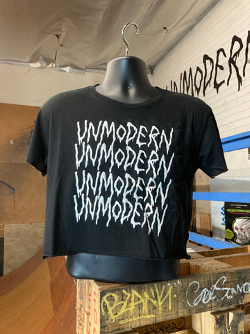 UNMODERN | Bleeding Logo Crop | Black