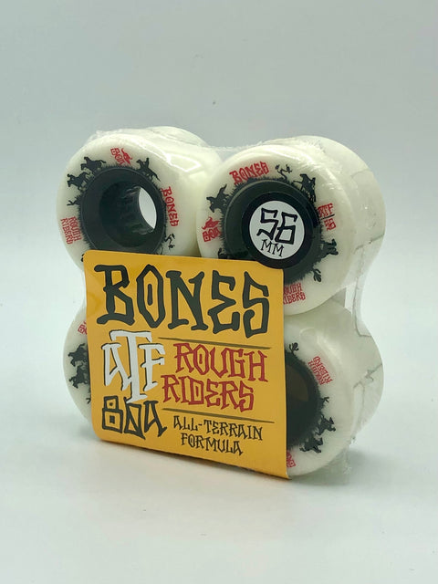 BONES | ATF Rough Riders White Wheels | 56mm 80a