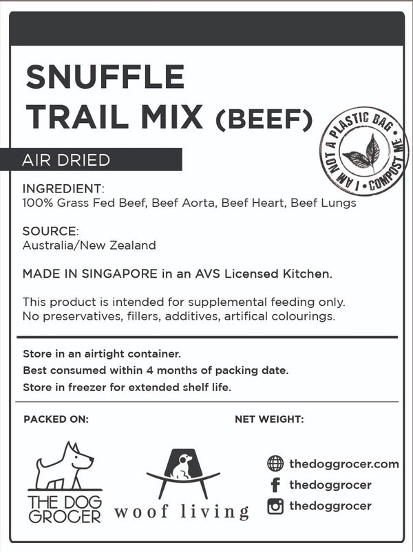 Snuffle Beef Trail Mix (100g)