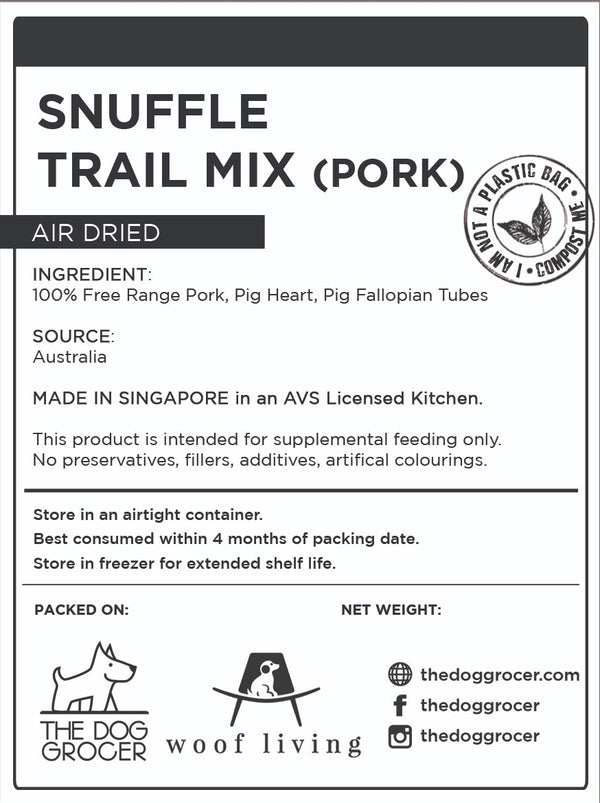 Snuffle Pork Trail Mix (100g)