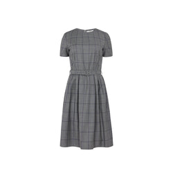 WOOLLEN CHECK TUNIC DRESS