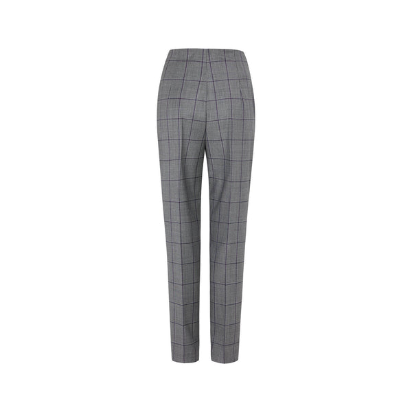 WOOLLEN CHECK SUIT TROUSERS