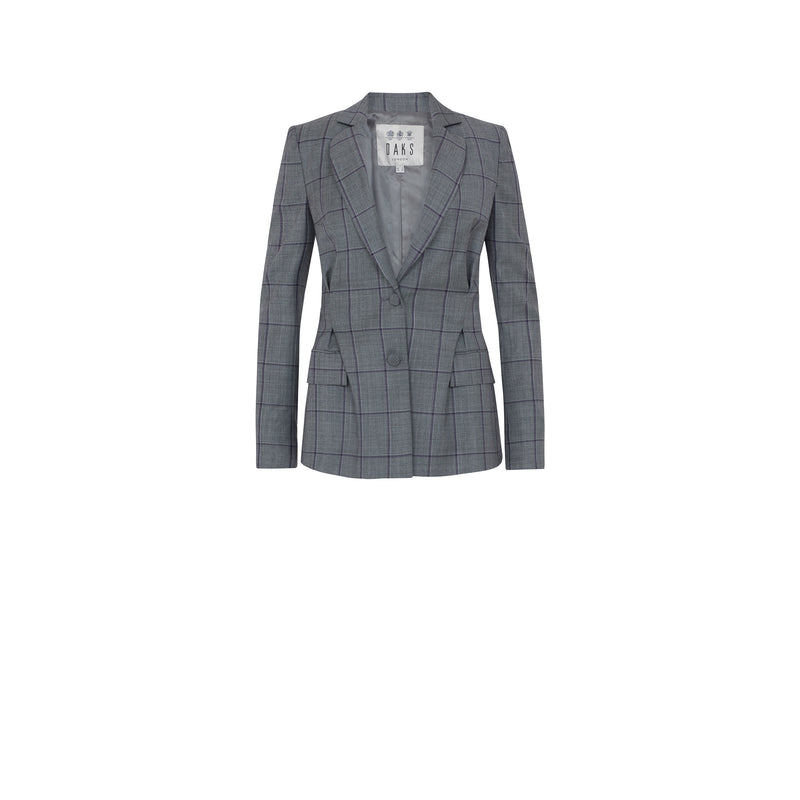 WOOLLEN CHECK SUIT JACKET