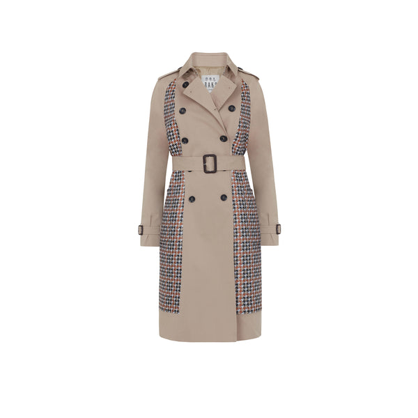 Transfigured House Check Trench Coat