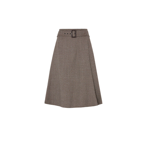 DOGSTOOTH GREY CHECK SKIRT