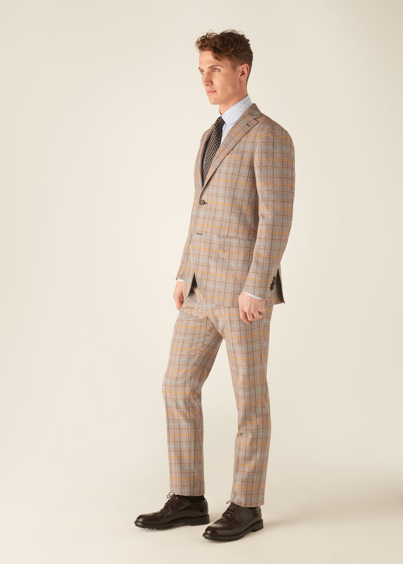 JACK - TRAVIS - Cotton Prince of Wales Suit