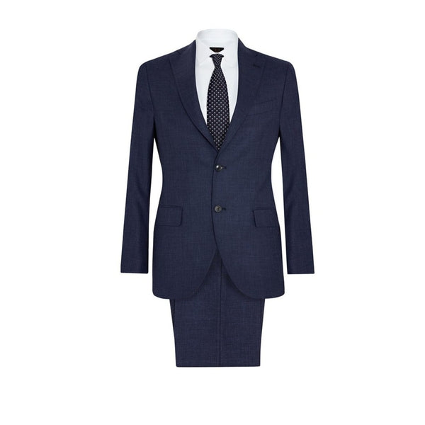 JACK - TRAVIS - NAVY TEXTURED SUIT