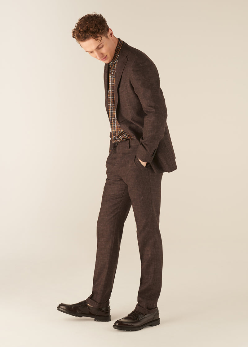 JACK-TRAVIS - The Brown Shark-Skin Suit