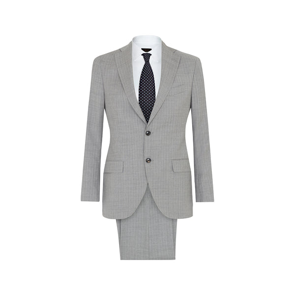 JACK-TRAVIS - GREY PINSTRIPE SUIT